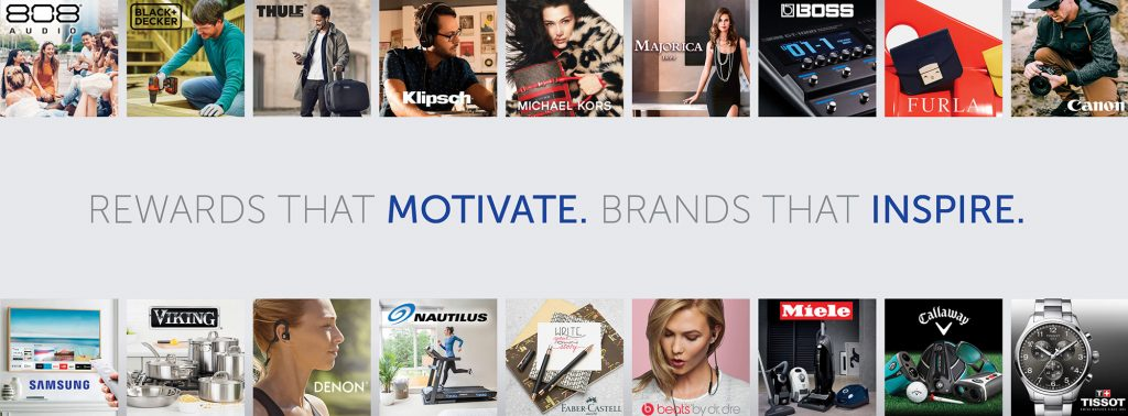 Rewards that Motivate. Brands that Inspire.