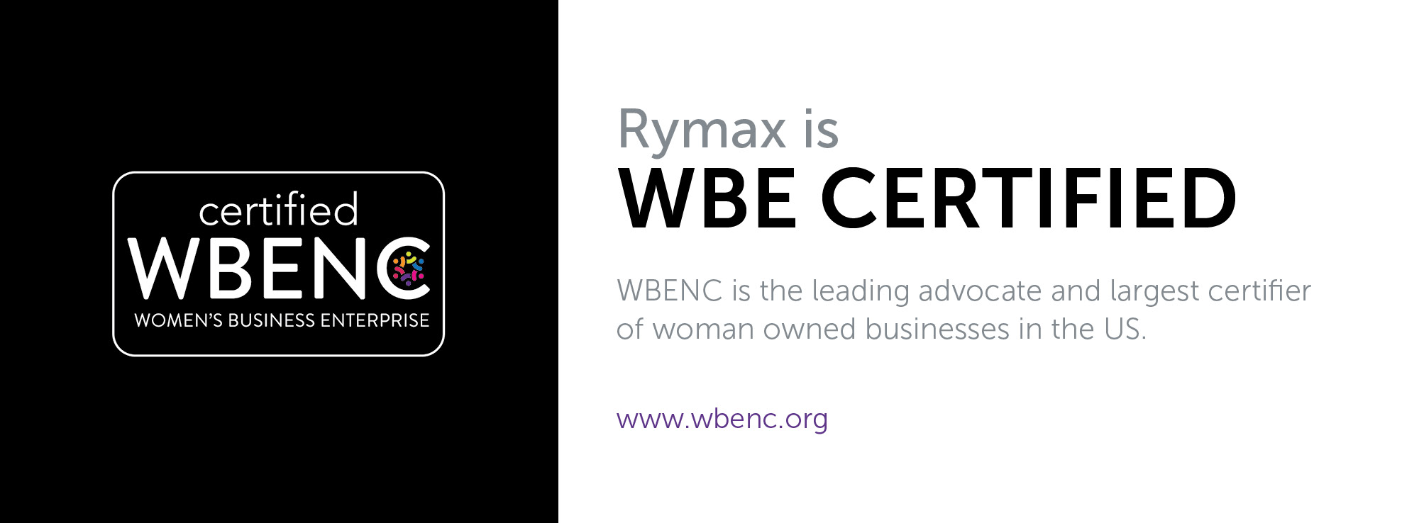 Rymax Is WBE Certified