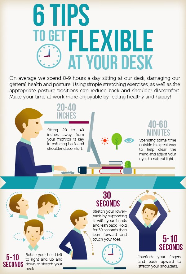 Desk Exercises To Try At Work (infographic)  Rymax Marketing. Executive Desk Dimensions. World Of Leisure Pool Table. Executive Platinum Desk American Airlines. Bunk Beds With Desk For Boys. Sofa Table Plans. Lenovo Desk. 6ft Tables. Copper Console Table