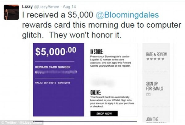 Bloomingdales Promotion Fail