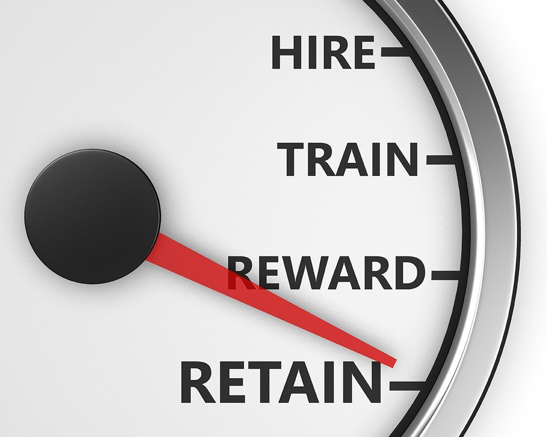 hire, train, reward, retain employee cycle