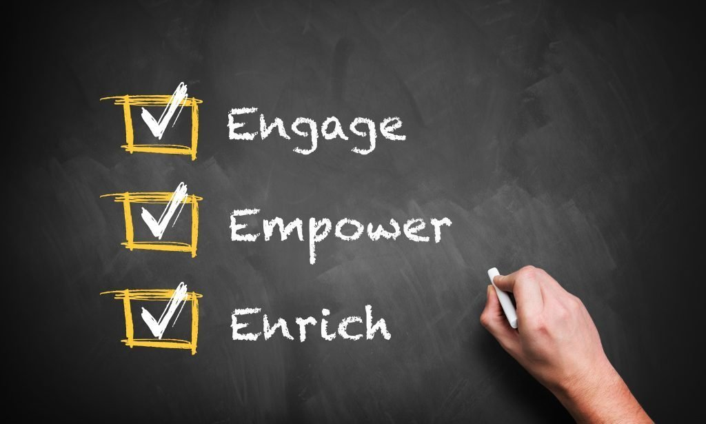 engage, empower and enrich