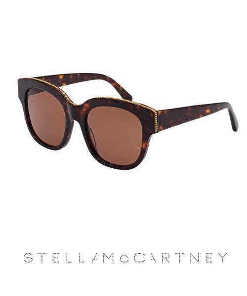 Stella McCartney Ladies Havana Falabella Chain- Brown Lens