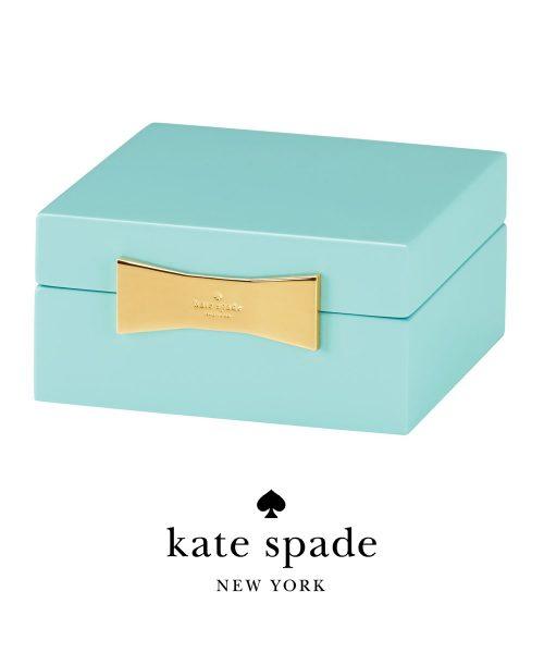 Kate Spade Garden Dr Sq Jewelry Box Turq