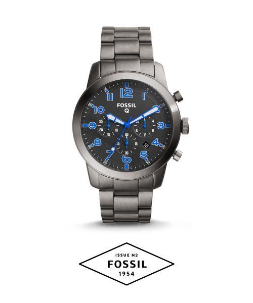 Fossil Q54 Pilot SS Smartwatch, Blue Accents