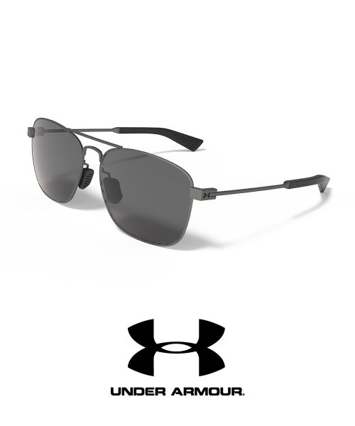 Under Armour Sport Rally Gunmetal Frame, Gray Polarized Lens