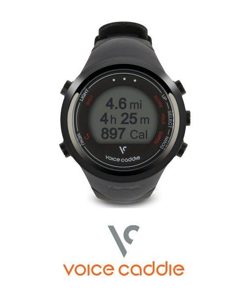 Voice Caddie T2 Hybrid Golf GPS Watch-Black