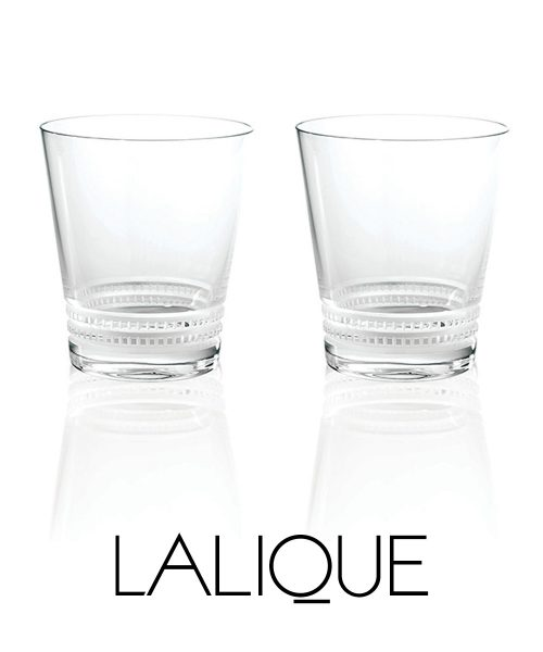 Lalique Facet Tumbler Large (Set of 2)
