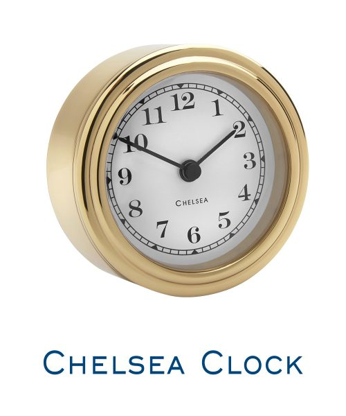 Chelsea Harwich Desk Clock- Brass
