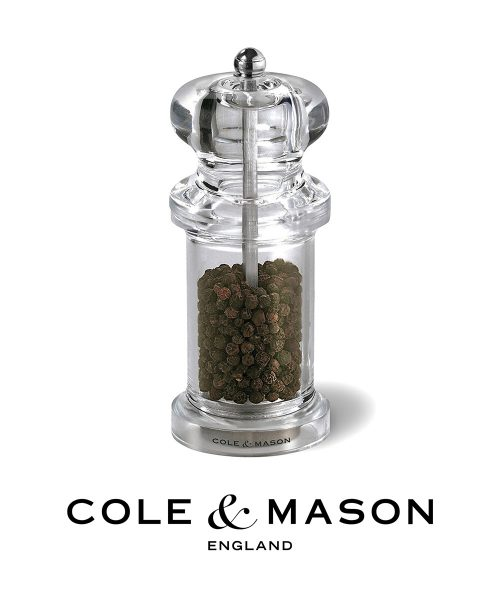 Cole & Mason 505 Pepper Mill - Clear Acrylic