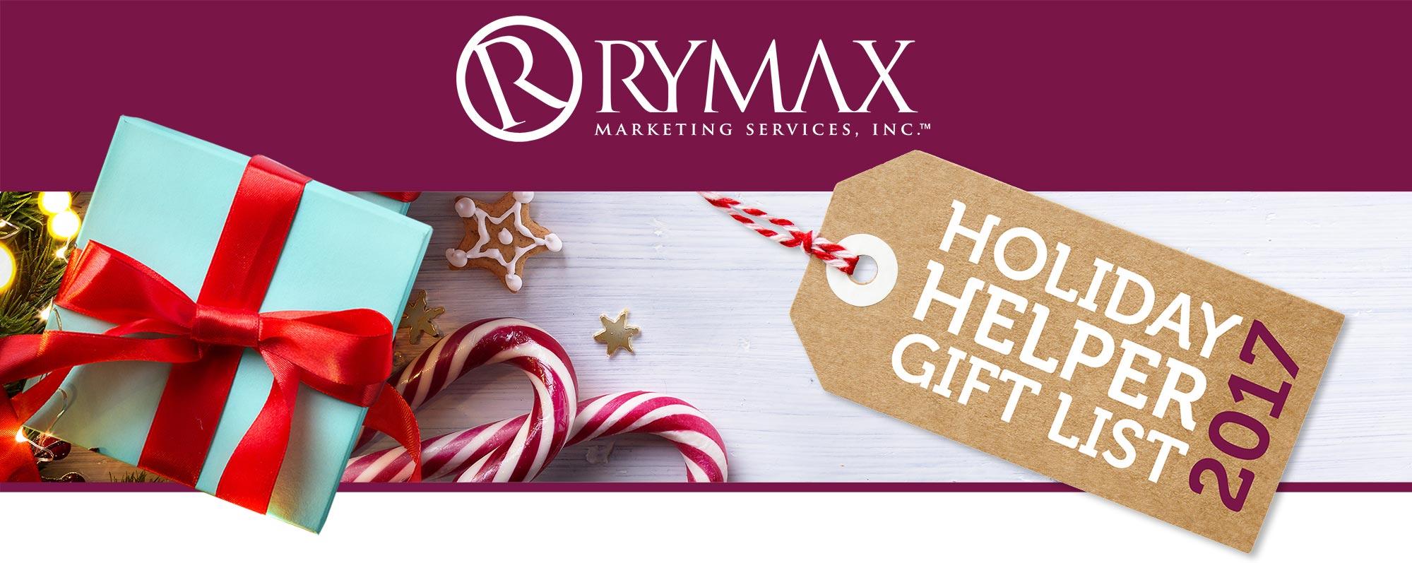 Rymax Holiday Helper Gift List 2017