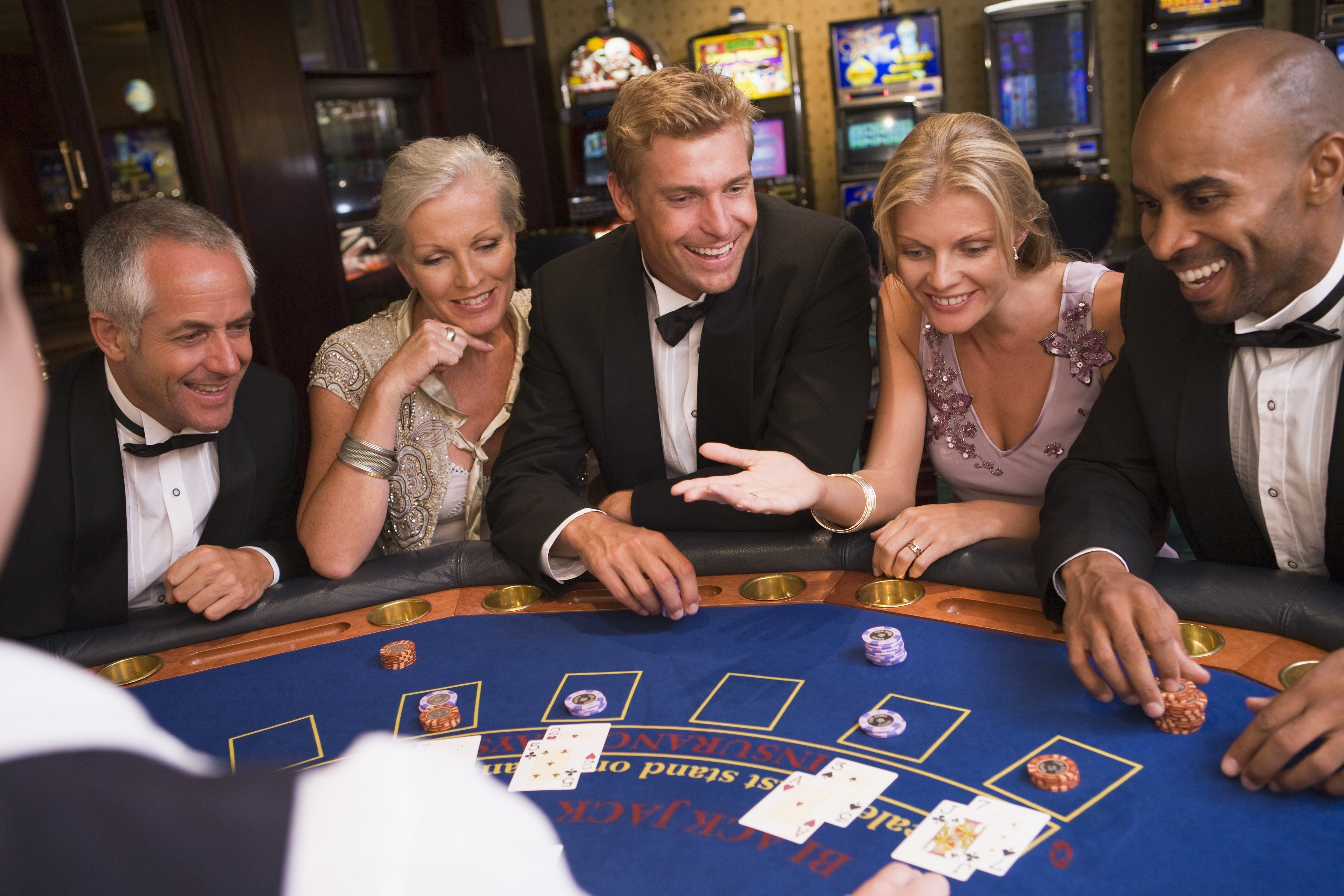 baby boomers at blackjack table in a casino