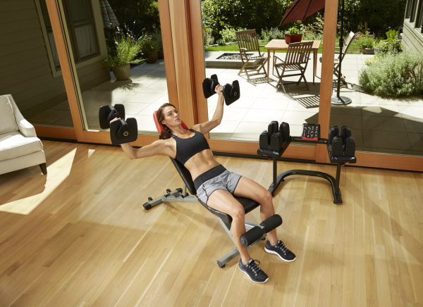 bowflex dumbbells ST560 workout rymax marketing