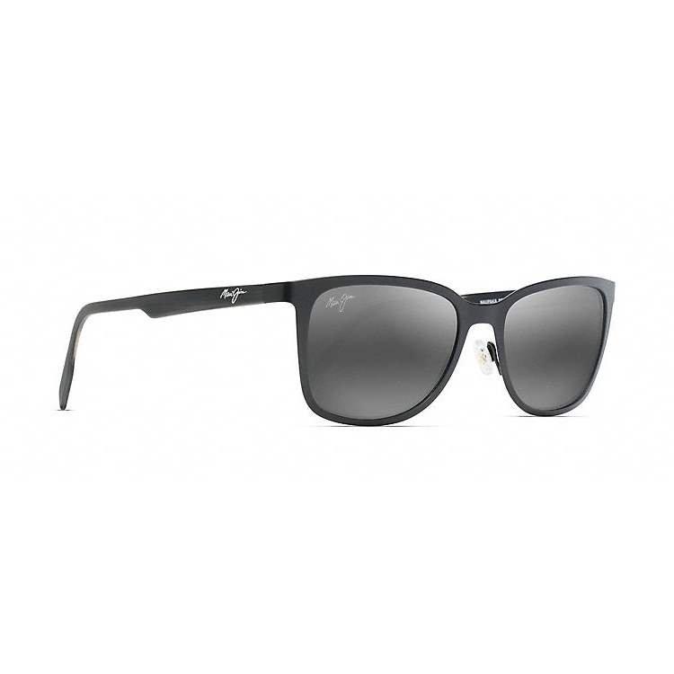 b634d2c0f7 Naupaka Matte Black Sunglasses with Grey Polarized Lenses - Rymax ...